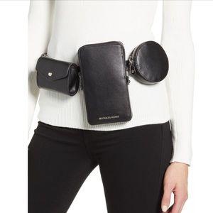 NEW Michael Kors Multi Pouch Leather Belt Bag